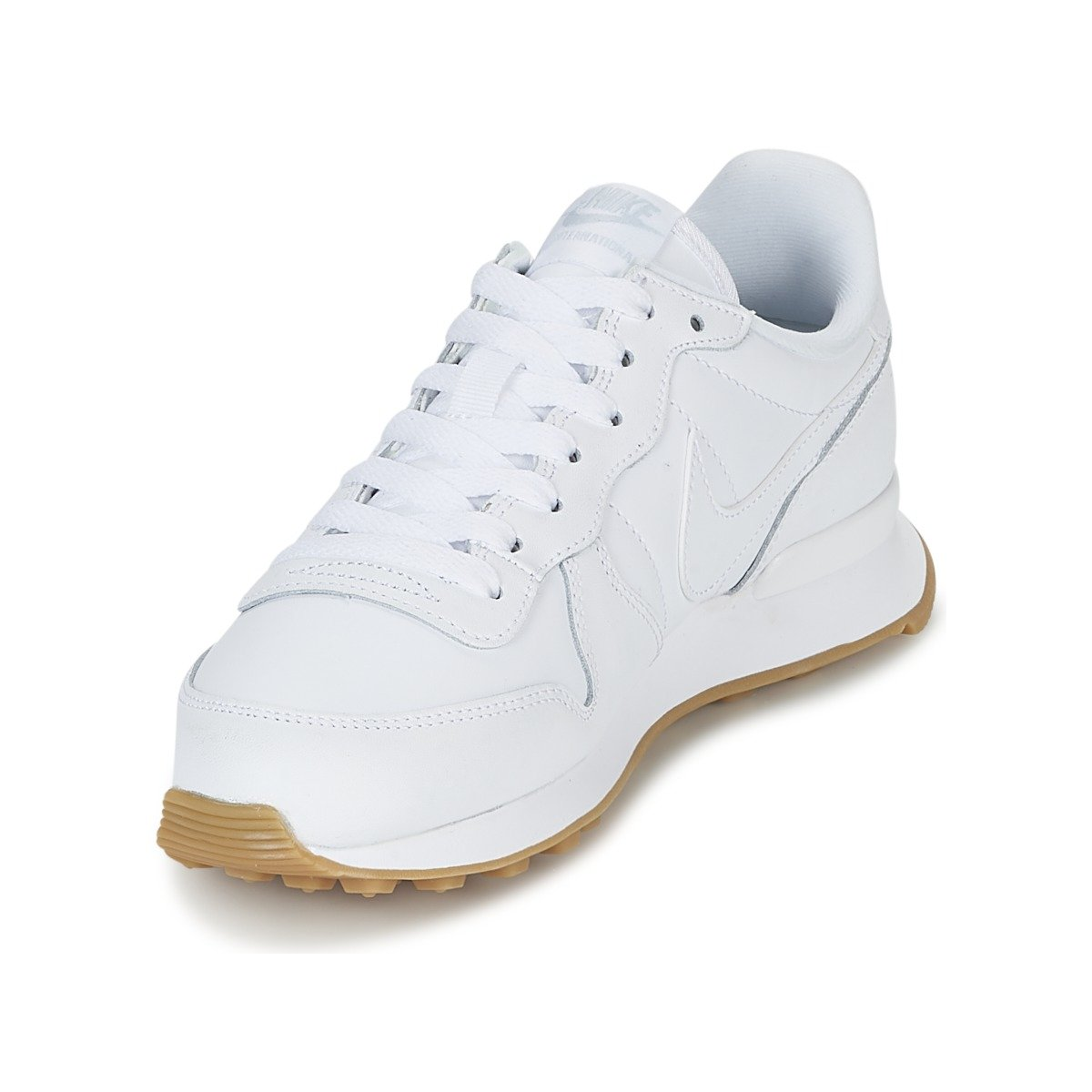 4090fd909cc9 ... NIKE Internationalist Damen Sneakers Braun Mehrfarbig (Weiß Weiß Weiß Gum  Light Braun ...