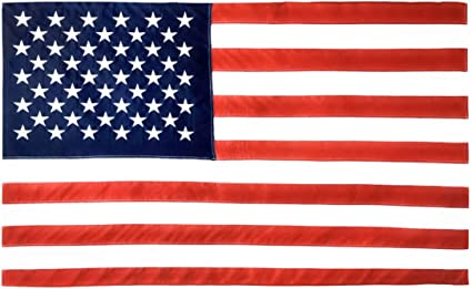 Amazon Com Valley Forge American Flag Cotton 3 X 5 100 Made In Usa Sewn Stripes Embroirdered Stars Heavy Duty Brass Grommets Outdoor Flags Garden Outdoor