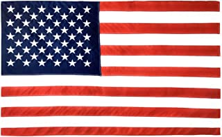 product image for Valley Forge, American Flag, Cotton, 3' x 5', 100% Made in USA, Sewn Stripes, Embroirdered Stars, Heavy-Duty Brass Grommets