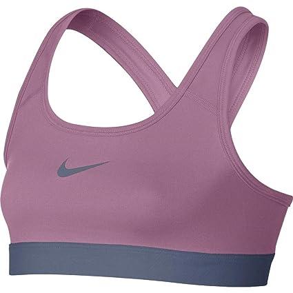 Nike niña Classic – Sujetador Deportivo, Niñas, 819727-654, Pink/Ashen