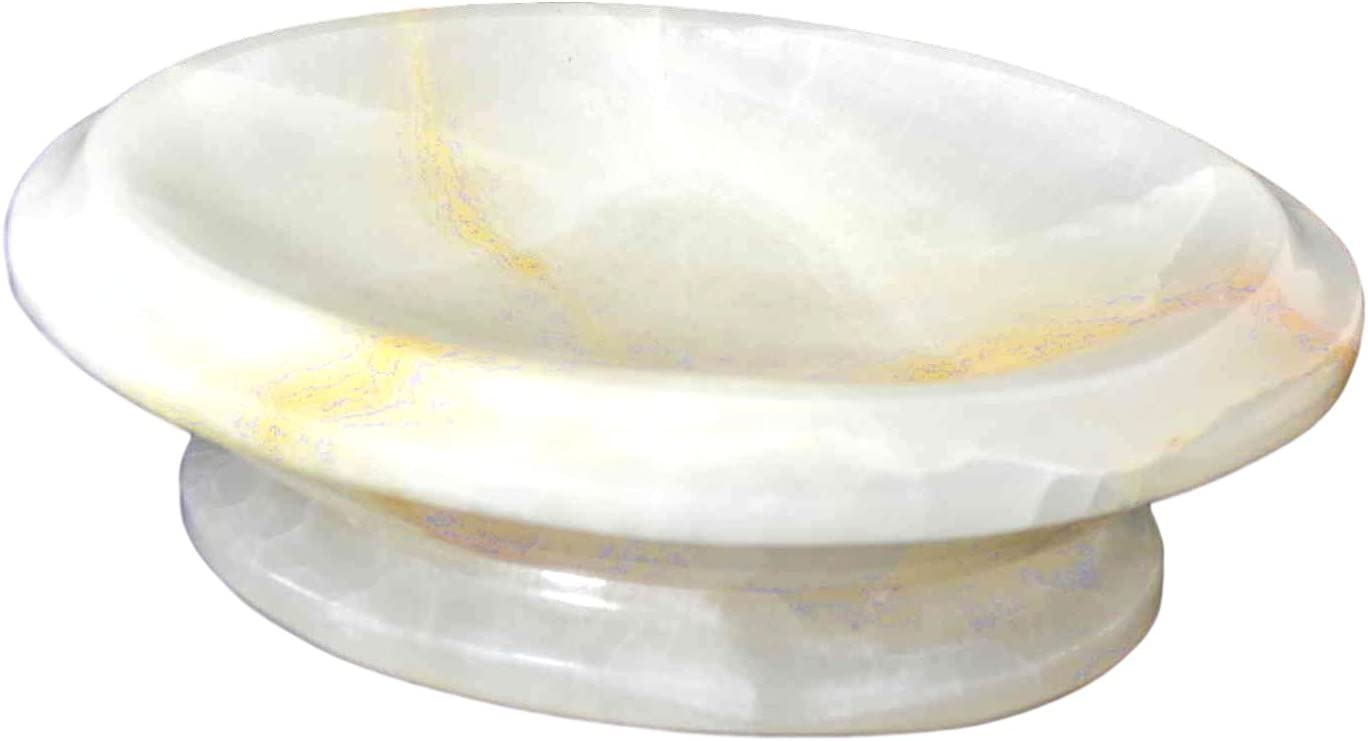 Nature Home Decor 303WO White Onyx Soap Dish of Atlantic Collection