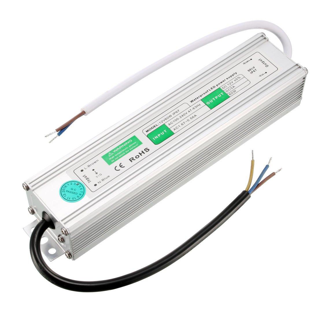 uxcell LED Driver Power Supply IP67 Waterproof,AC110~260V to DC12V 100 Watt Transformer