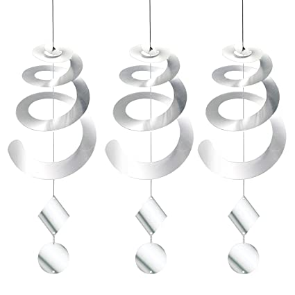 Chephon Bird Repellent Spiral Reflectors with Reflective Scare Discs -  Decorative Bird Deterrent Device to Scare Birds Away Like Woodpeckers,  Pigeons,
