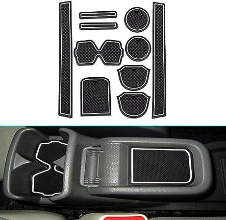 Muchkey Für Nv200 Anti Staub Rutschfeste Innentür Tasse Arm Box Lagerung Matte Innentür Gummimatten Anti Rutsch Matten Weiß 10 Stück Pro Satz Auto