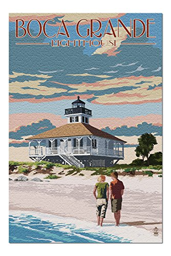 (Boca Grande, Florida - Lighthouse (20x30 Premium 1000 Piece Jigsaw Puzzle, Made in)