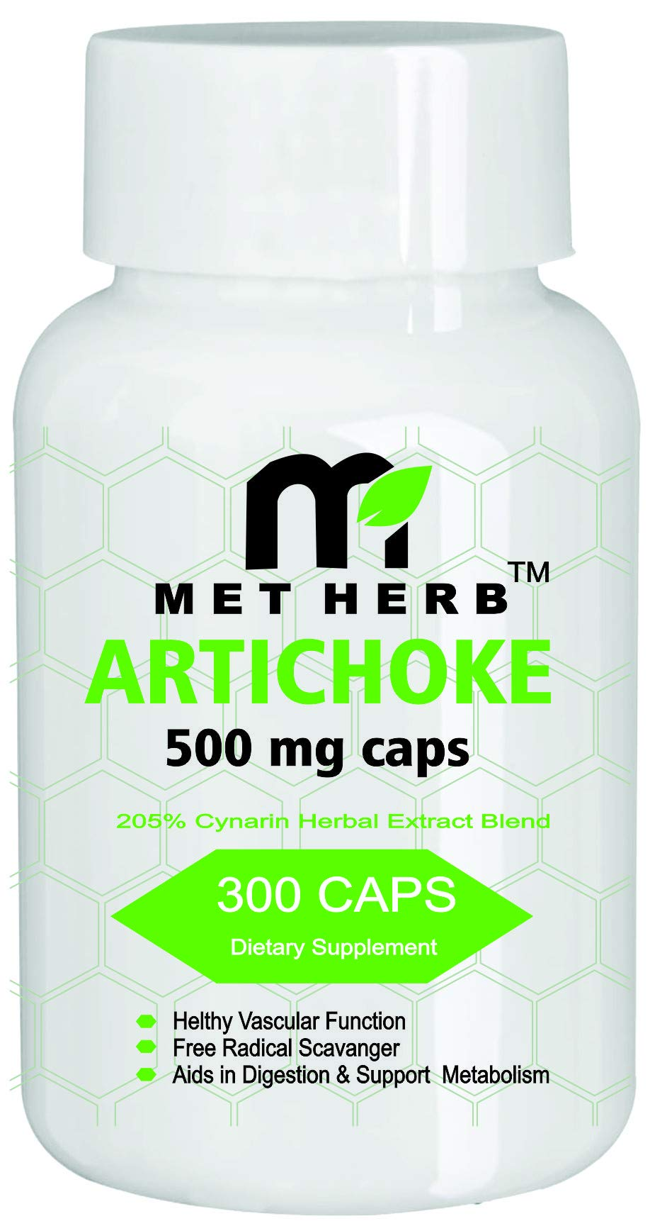 Artichoke Standardized Extract Supports Vascular Health 500mg -300Capsules