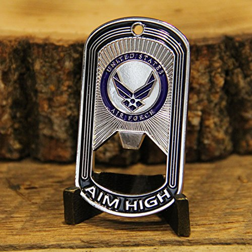 Air Force Challenge Coin - Dog Tag - Bottle Opener Coin