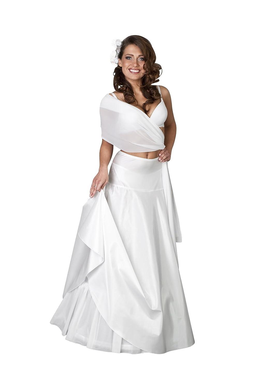 H9-220 - Vestido de novia, con miriñaque, 220 cm con miriñaque
