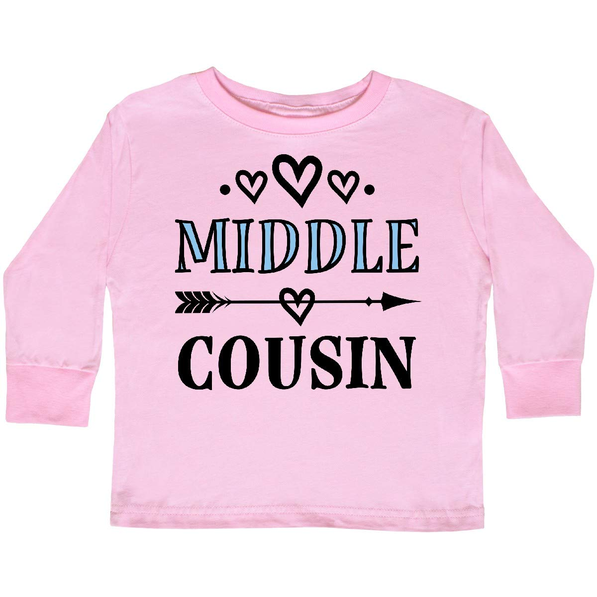 inktastic Middle Cousin Gift Toddler Long Sleeve T-Shirt