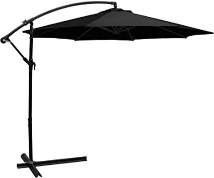 FRUITEAM Offset Umbrella Cover Heavy-Duty Patio Umbrella Cover for 7ft to 10ft Cantilever Outdoor Market Umbrellas Cover with Zipper and Water Resistant Fabric