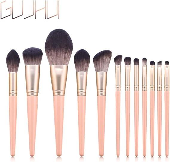 Cocoty-store 2019 12Essentials Brochas de Maquillaje Set 17 Unids Púrpura Color Profesional Base de Cara Sombra de Ojos Delineador de ojos Resaltador Kits de pinceles de maquillaje(Rosado): Amazon.es: Belleza