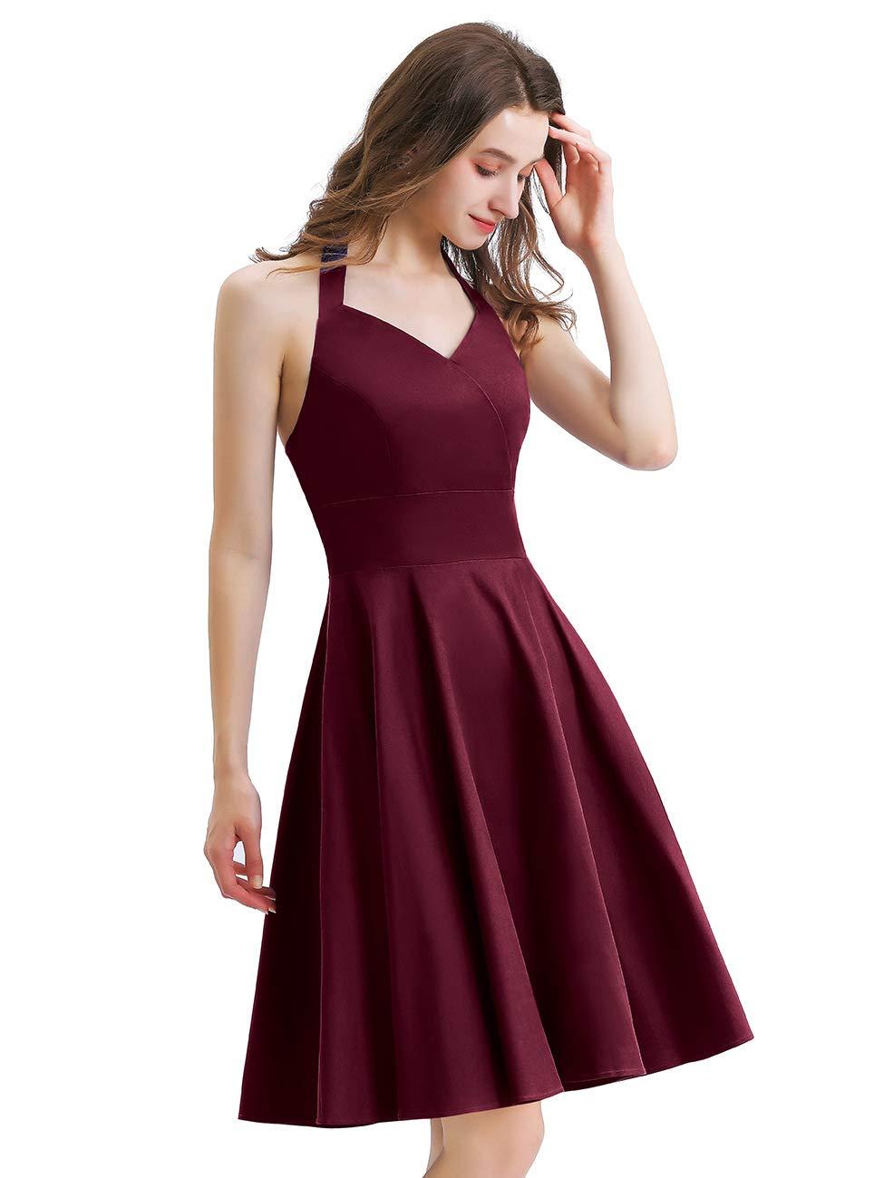 1950 Rockabilly Dresses for Women, Vintage 50s Homecoming Dress V