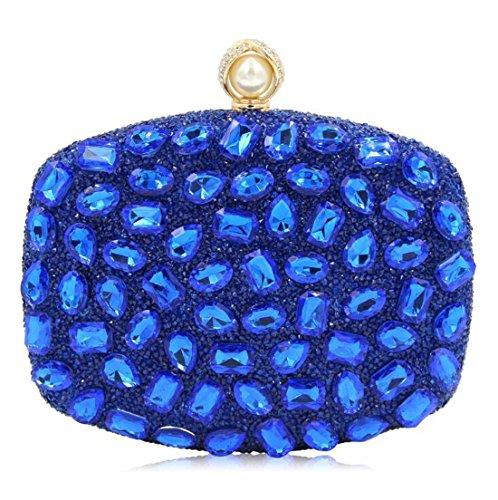 partie sac clubs Sacs à Shimmer de main strass les sacs à à de mariage Hot femmes d'embrayage soirée de NBWE sac les main pour Blue main pour Swx8XqdwR
