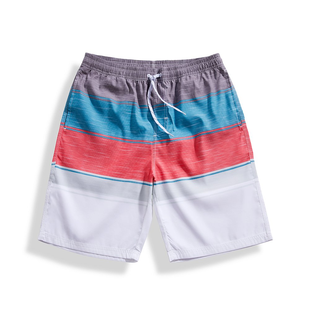 7d55241e09 Top5: SULANG Mens Slim Fit Quick Dry Classic Stripes Board Shorts Swim  Trunks No Mesh Lining