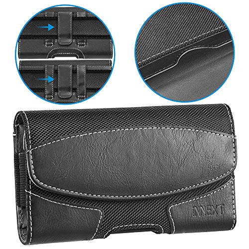 iNNEXT iPhone 8 Plus Belt Clip Case, Premium Horizontal Leather Case Pouch Holster with Magnetic Closure, Pouch Sleeve Carrying Case with Belt Clip Holster for iPhone 7 Plus / 6S -