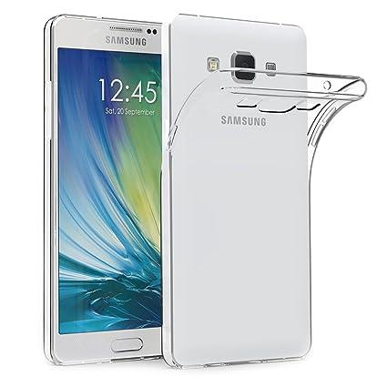 AICEK Funda Samsung Galaxy A5 2015, Samsung Galaxy A5 2015 (A500F/A500FU) Funda Transparente Gel Silicona Galaxy A5 2015 Carcasa para Samsung Galaxy ...
