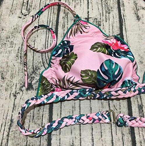 Made M Due Set Stampa Asia Da Brasiliano UOMOGO® Da Tankini Bagno Hand Costumi Corda Rosa Bagno Costume Pezzi FCATn