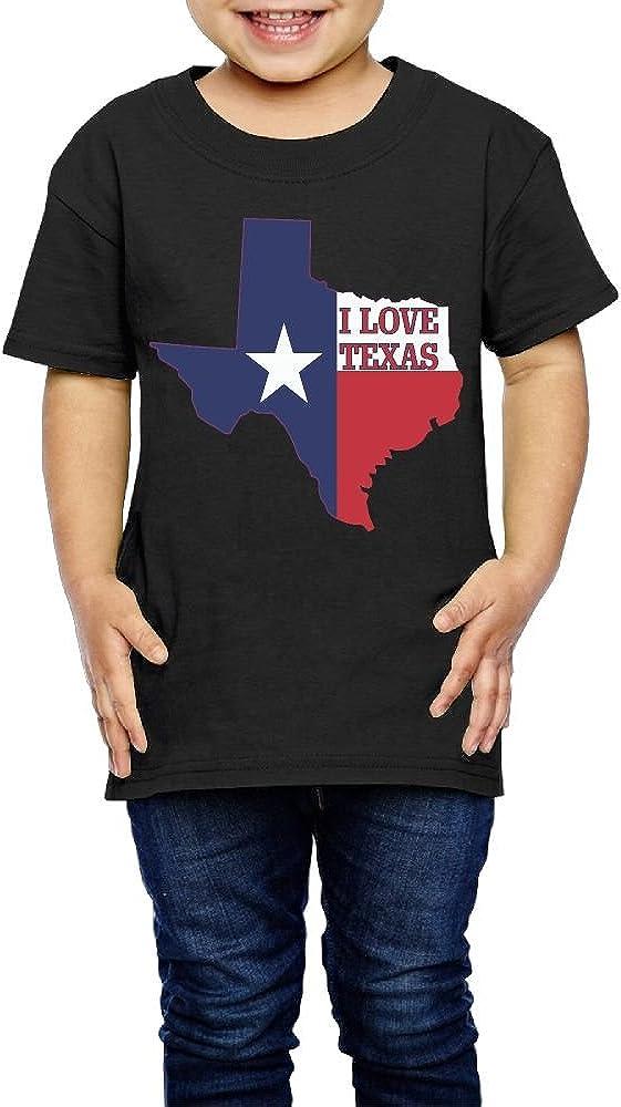 2-6 Years Old I Love Texas Texan Flag Kids Baby Boy Organic T-Shirt Summer Tee