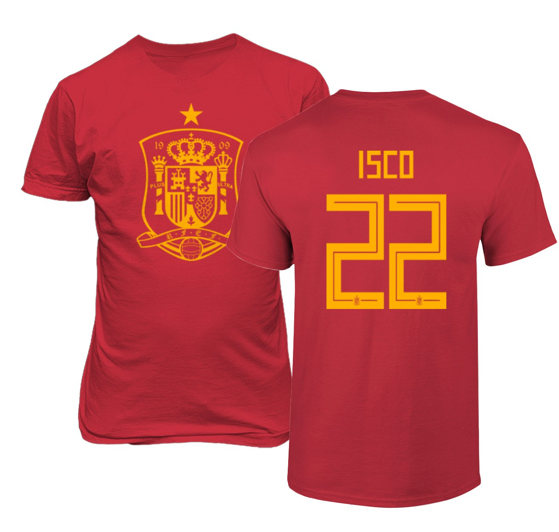 6f286cb92 Amazon.com  Tcamp Spain 2018 National Soccer  22 ISCO World Championship  Men s T-Shirt  Sports   Outdoors