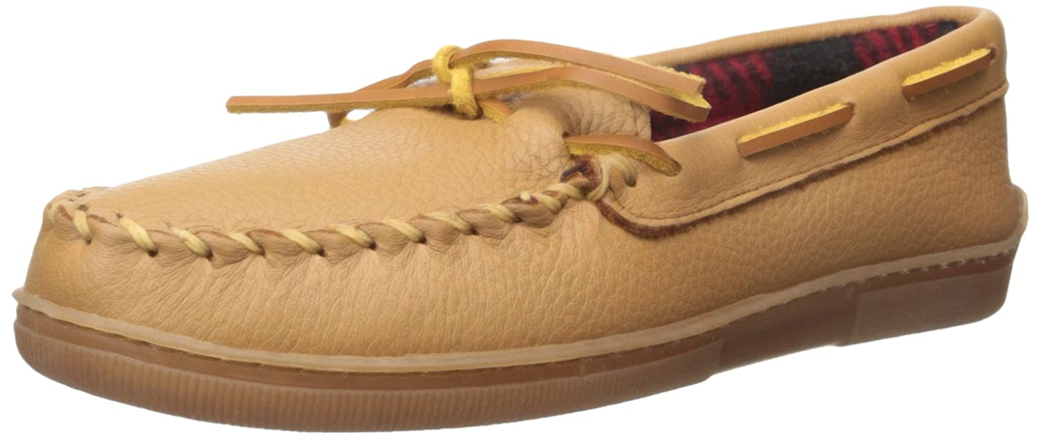 Minnetonka 3950 Moose with Fleece, Mocasines para Hombre 42 EU|Beige (Natural)