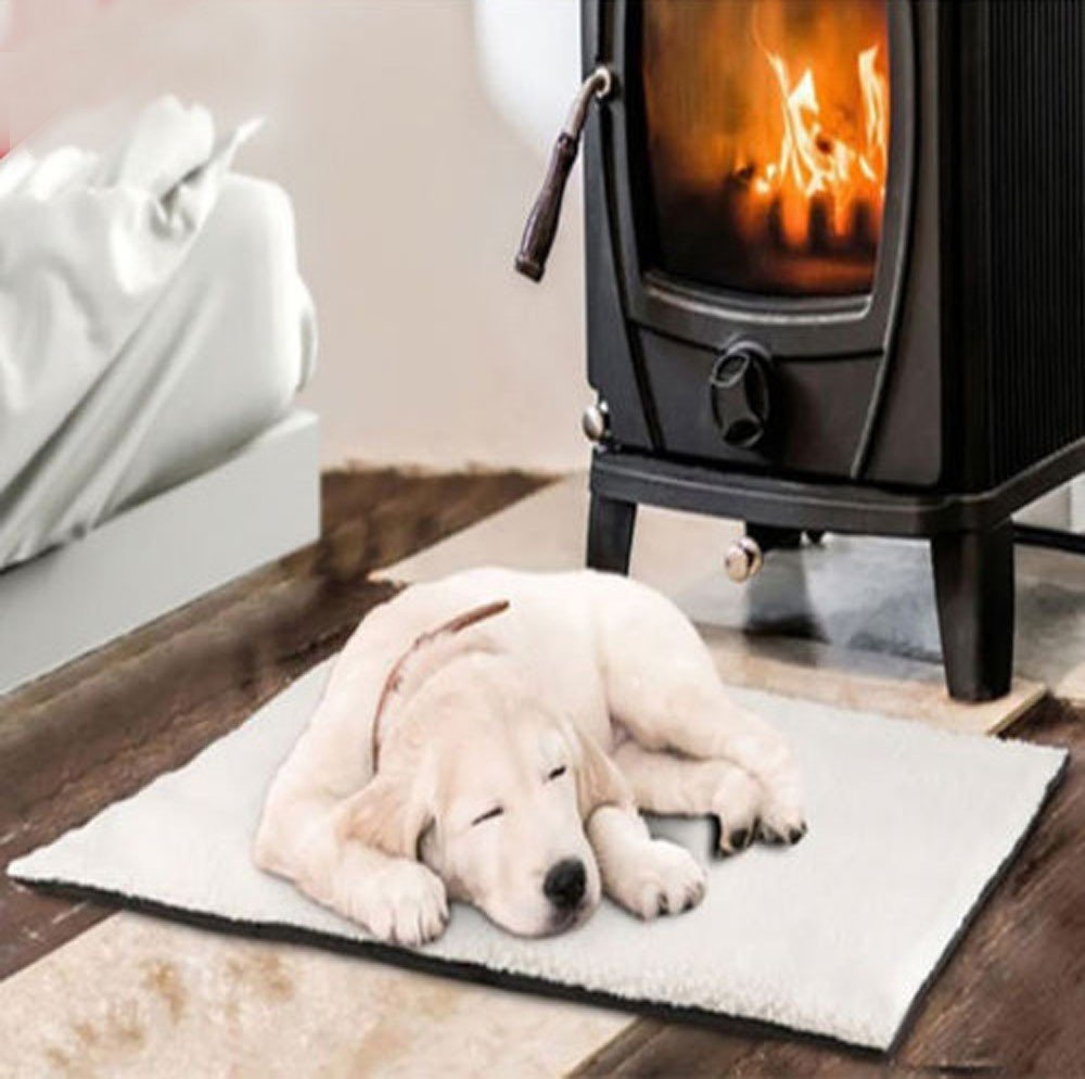 callm Self Heating Dog Cat Pet Bed Thermal Washable No Electric Blanket Required (White, 64cm x 46cm) by callm (Image #3)