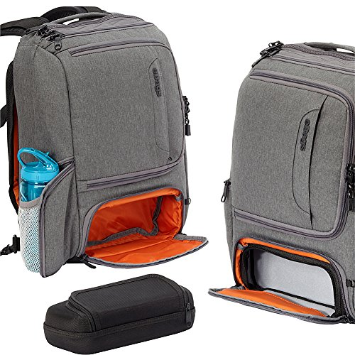 eBags Laptop-Rucksack Professional Slim Junior (Tiefschwarz) Tiefschwarz