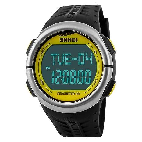 WULIFANG Frecuencia Cardíaca Relojes Deportivos Hombre De Gran Dial Moda Reloj Digital Led Reloj Alarma Electrónica