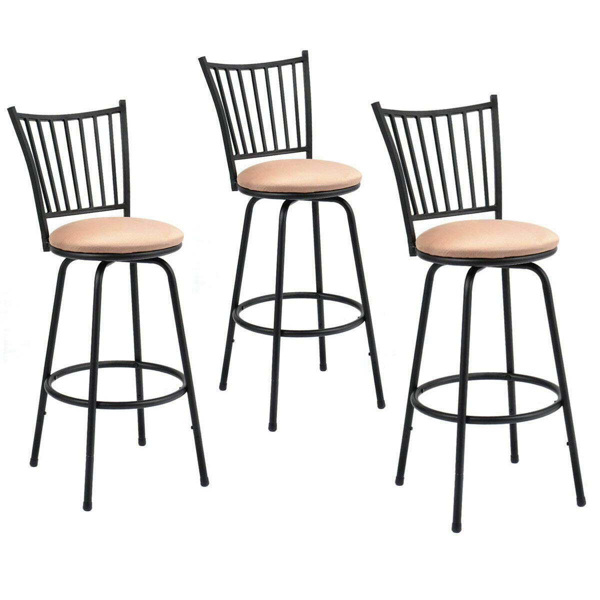 Amazon.com: (NEW Patio & Garden Furniture) Set of 3 Swivel ...