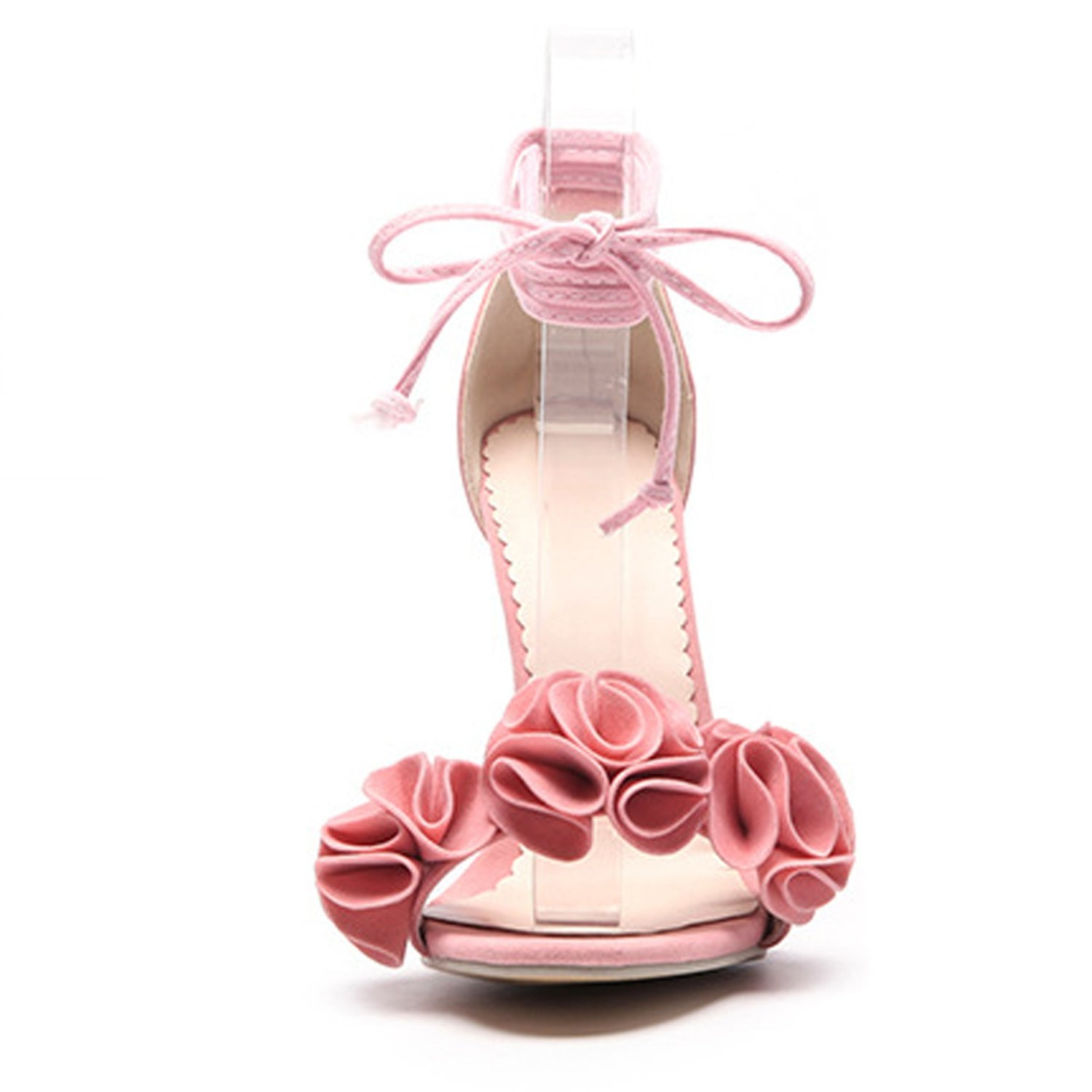 Women Sandals Lace-up Cross-Tied Summer Flowers Shoes Thin Heels for Female Casual Shoe XWC2032-5