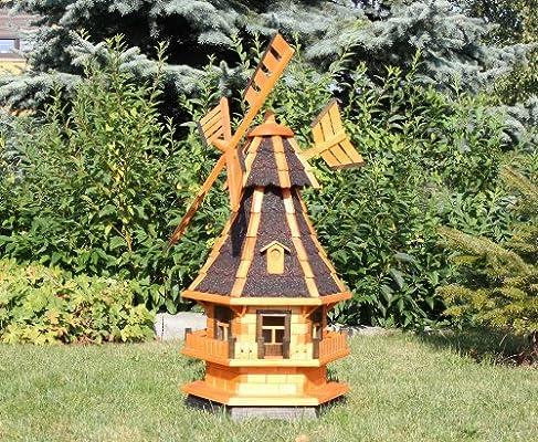 Jardín Molino de viento con solar Negro Tipo 4.1: Amazon.es: Jardín