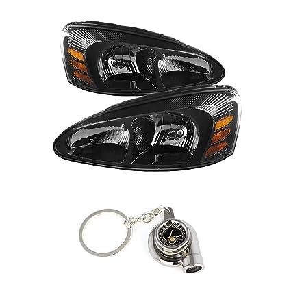 Amazon.com: Pontiac Grand Prix Black Crystal Headlights+ ...