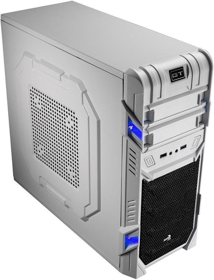 Aerocool GTAD - Caja gaming para PC (semitorre, ATX, 7 ranuras de expansión, capacidad hasta 3 ventiladores, incluye ventilador frontal y trasero 12 cm, USB 2.0/3.0), color blanco: Aerocool: Amazon.es: Informática
