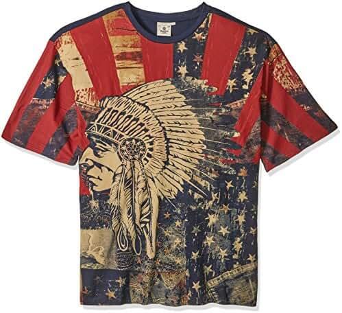 Akademiks Men's Big and Tall Chief Vintage T-Shirt B&t