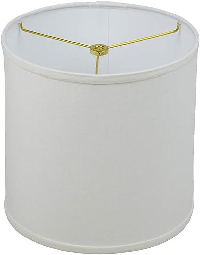 FenchelShades.com 10 Top Diameter x 10 Bottom Diameter 10 Height Fabric Drum Lampshade Spider Attachment Designer Linen Off White