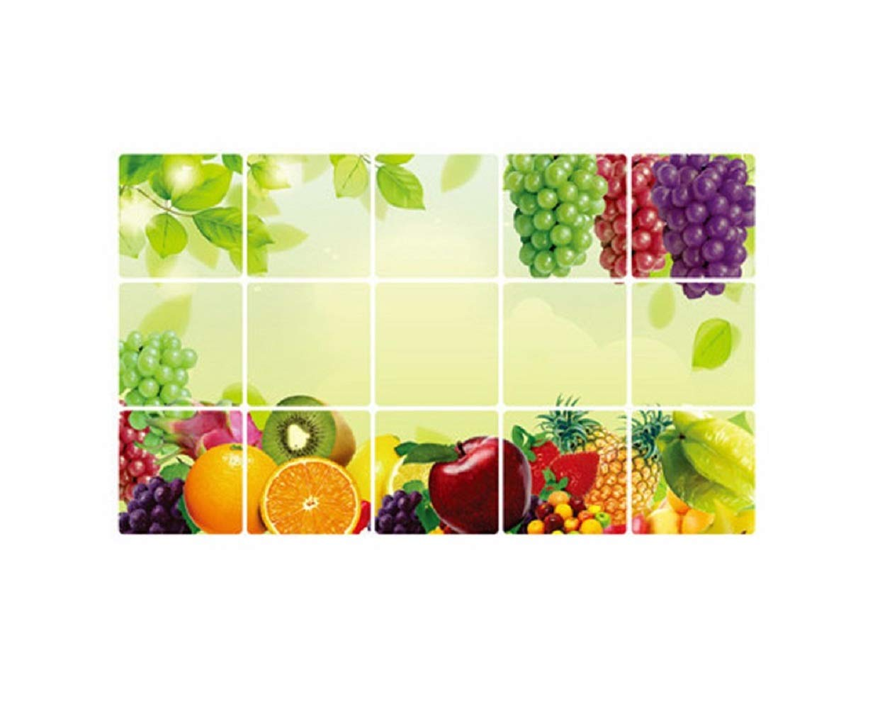 IRENE Home Decal Wall Stickers Cute Kitchen Oilproof Removable Art Decor (Multicolor)