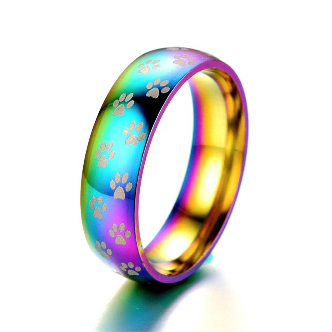 Men's Women's 8mm Fashion Stainless Steel Ring LGBT True Love Rings Size 5