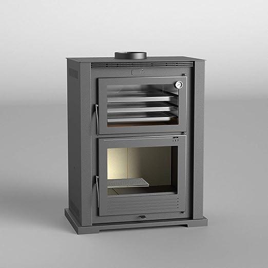 FM - Horno de madera de acero HL-100 11 kW con puerta de hierro ...