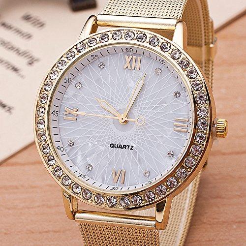 Amazon.com: New Gold Watch Women Rhinestone Watch Ladeis Fashion Dress Quartz Watch Reloj Mujer Hot Sale Relogio Feminino BWSB1322: Health & Personal Care