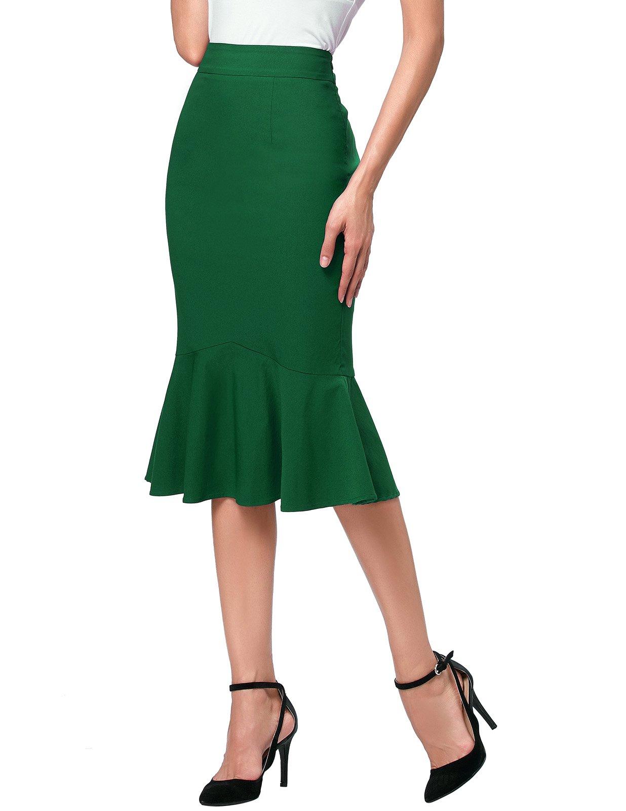 Kate Kasin Mermaid Pencil Office Skirts For Women Work Wear S K241-6