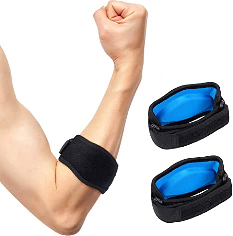 Tennis Elbow Brace Elbow Strap With Compression Pad Adjustable Tennis Elbow Support For Men And Women Effective For Tendonitis And Tennis And Golfer S Elbow Injury Prevention 1 Pair Amazon Co Uk Health Personal