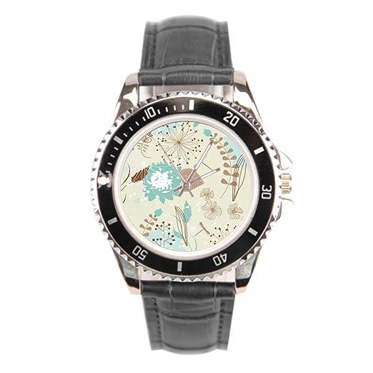 kosmore Retro cinturones de piel Para Relojes Vintage reloj para hombre negro piel banda: Amazon.es: Relojes