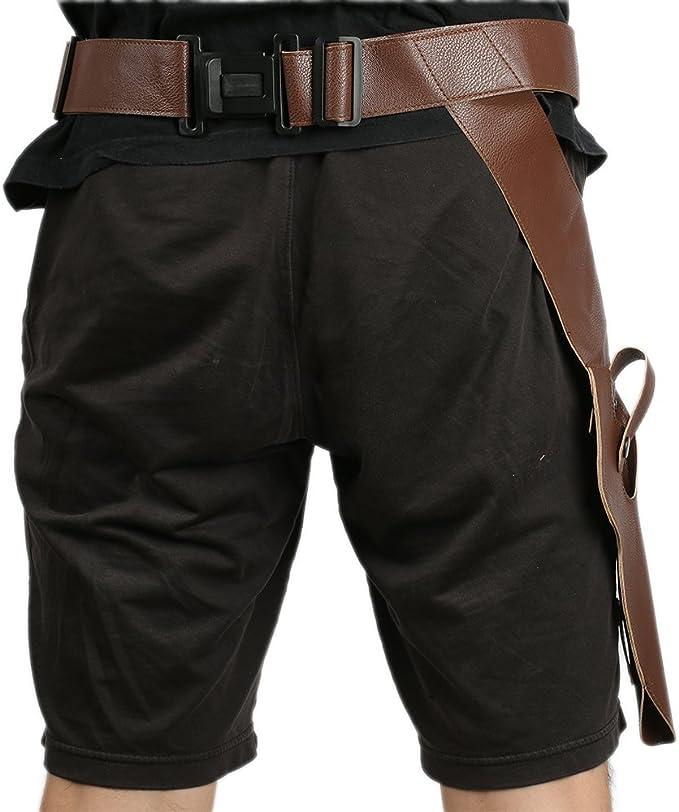 Dlt Cintura Halloween Cosplay uomo in pelle cintura con fondina per pistola costume accessori di abbigliamento