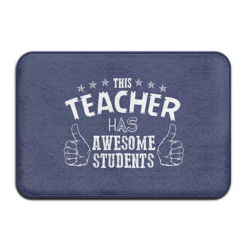 MECIKR Doormat Teacher Awesome Students College School Welcome Mat Outdoor Funny 23.7 x 15.7 inch