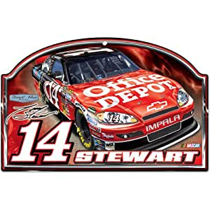 NASCAR Tony Stewart 11-by-17 Wood Sign Traditional Look
