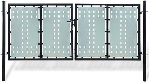 taofuzhuang Verja Negra con Dos Puertas de Entrada, 300 x 175 cmBricolaje Vallas de jardín Puertas de jardín: Amazon.es: Hogar