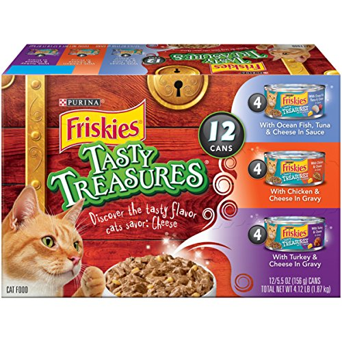 Purina Friskies Tasty Treasures Variety Pack Wet Cat Food