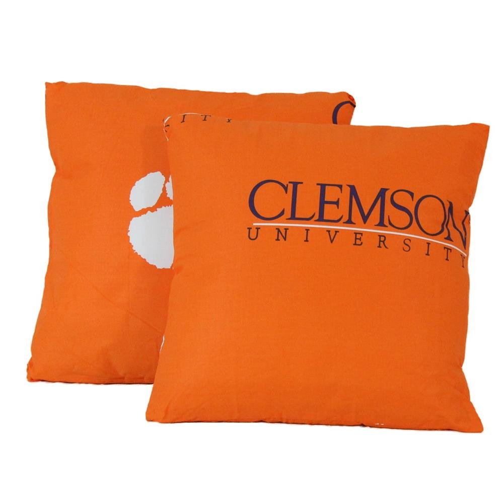 Clemson 16'' x 16'' Decorative Pillow Set by College Covers