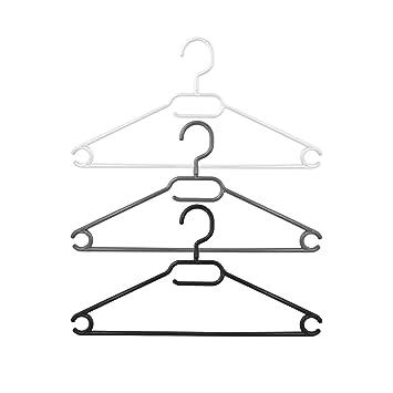 Kleiderbügel aus Kunststoff rutschfest Silber