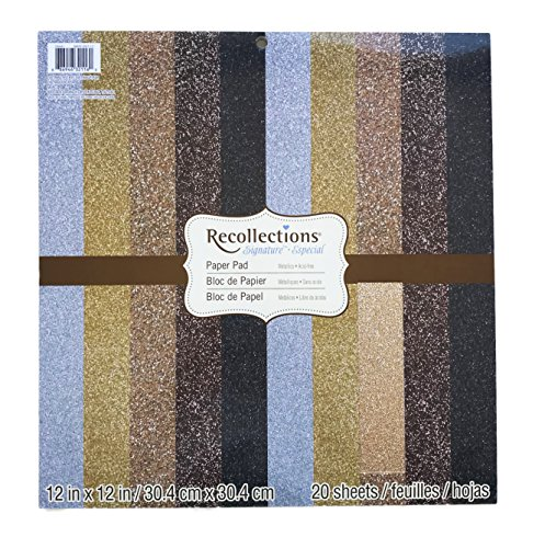 Crafting Assorted Glitter Paper Pad 12