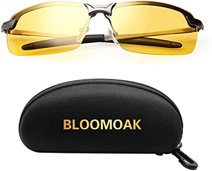 Sport Bike Riders Protection SOXICK Mens HD Polarized Night Driving Glasses Anti Glare Safety Glasses Professional HD Night Vision Glasses for Driving